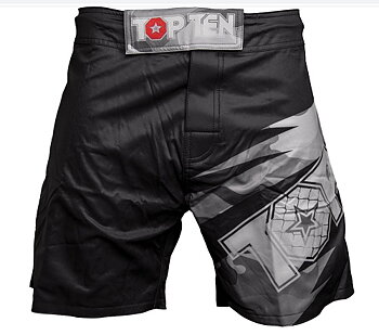 Topten MMA Board Shorts Scratched, Black