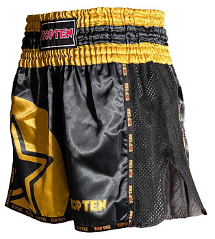Topten Thai/Kickboxingshorts Star, Black/Gold
