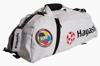 Hayashi WKF Gymbag/Backpack, White Medium