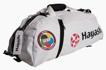 Hayashi WKF Gymbag/Backpack, White Large