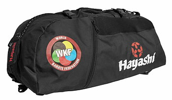 Hayashi WKF Gymbag/Backpack, Black Large
