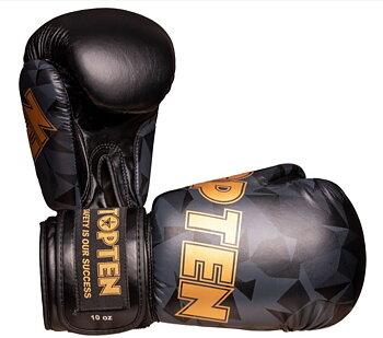 Topten Boxingglove Prism , Black/Gold 10-12 oz