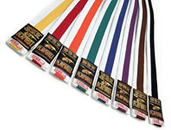240 cm Moon White with coloured stripe belt 4 - 4,5  cm