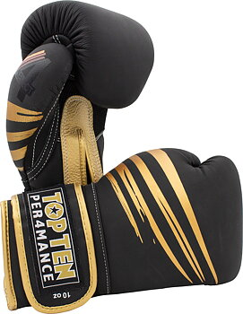 Topten Boxing glove 4Select Scratch, Black 10-16 oz