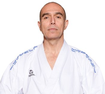 Hayashi  AIR  Deluxe  Kumite Gi blue shoulder