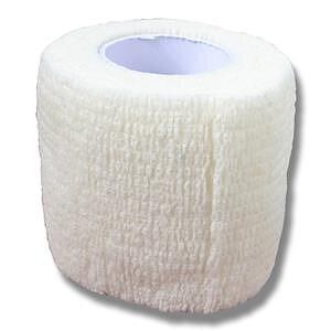 Elastiskt självhäftande bandage för hund vit