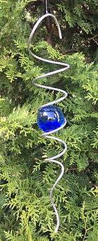 Spiral 40 cm med blå kula
