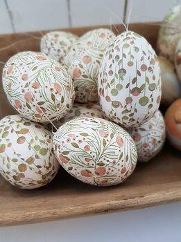 Ägg häng vintage -Blommor