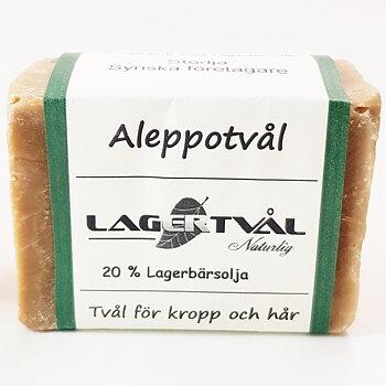 Aleppotvål, 20% lagerbärsolja, 170-200g
