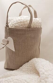 Babyfilt, Våffelvävt tyg i lin och bomull