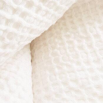 Badlakan och handduk i våfflat linne/bomull
