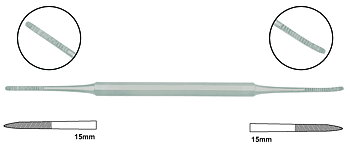 Nageltrångsfil, 14,5 cm tysk kvalitet