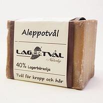Aleppotvål, 40% lagerbärsolja, 170-200g