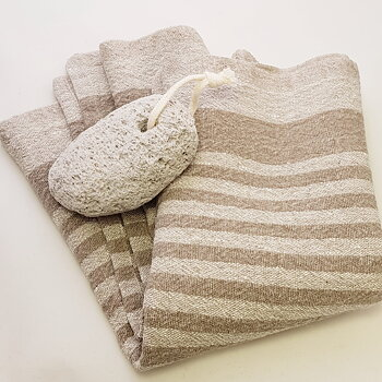 Lavduk, sitthandduk för bastubad, handduk, löpare i 100 lin