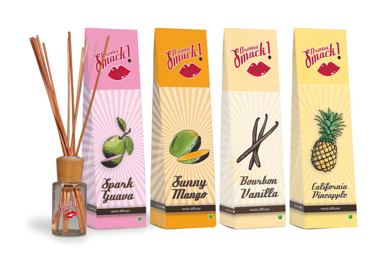 Reed diffuser, Aroma Smack!