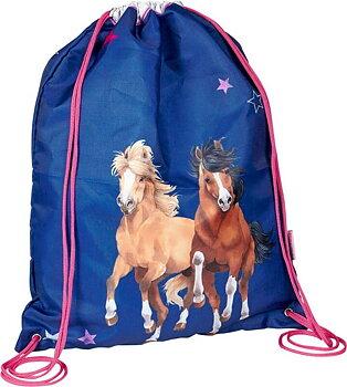Gymnastikpåse blå Horse Friends