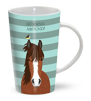 RIVERBANK MUG - HORSING AROUND