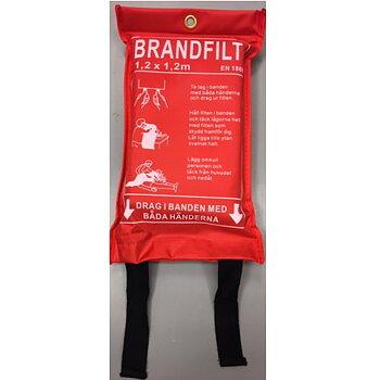 Brandfilt 120x120cm röd