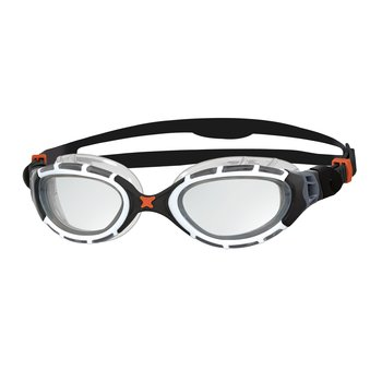 Zoggs Predator Flex - Black/White - Clear lens