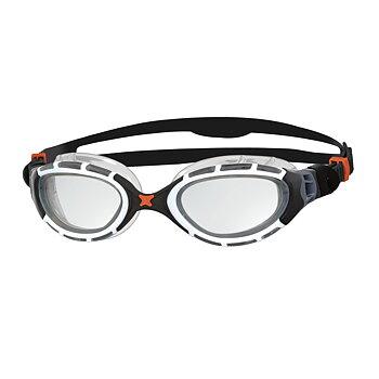 Zoggs Predator Flex - Svart/Vit - Klar lins