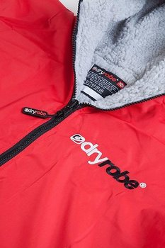 Dryrobe Advance Long Sleeve - Red/Gray