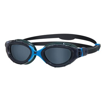 Zoggs Predator Flex - Gray/Blue - Dark lens