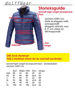 Zermatt Light weight down jacket Dam KAMPANJVARA