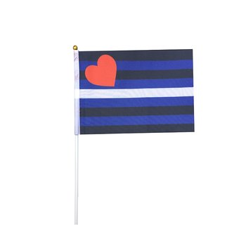 Leather flag on a stick mini (buy more pay less)