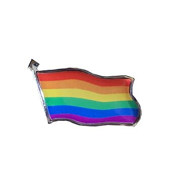 Pride flag on a pin