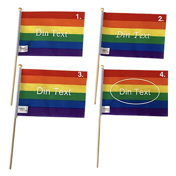"Pride flag ""with your text"" mini on a stick"