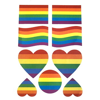 Pride temporary tattoo 9 pc
