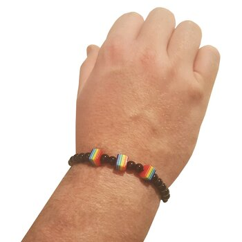 Pride Bracelets three cubes