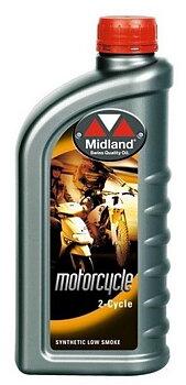 Snöskoterolja Midland 2-cycle  Low Smoke Delsyntet  2 taktsolja 1 liter 21711
