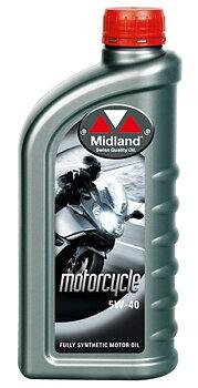Midland 5W-40 Helsyntet olja MC & 4 takts Snöskoter 1 Liter 21745