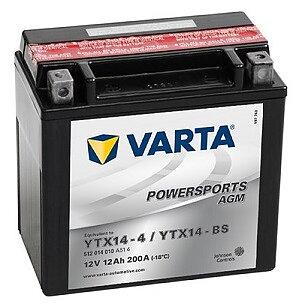 YTX14-BS  Batteri Varta  (Yamaha Snöskotrar)