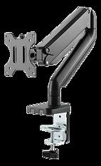 """Deltaco Office Premium monitor arm med gasfjäder, aluminium, tiltbar, svängbar, rotera, 17""""-32"""", svart"""