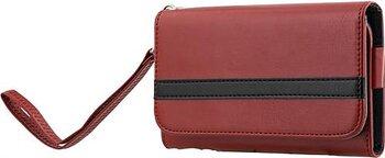 """STREETZ plånboksfodral för 4-5,1""""-smartphones, konstläder, röd/svart"""