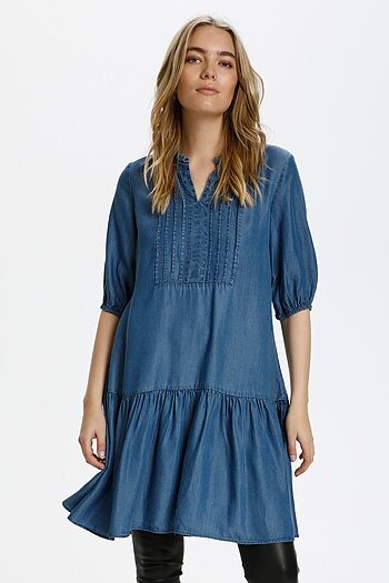 Culture - Mindy Dress Dark Blue Wash
