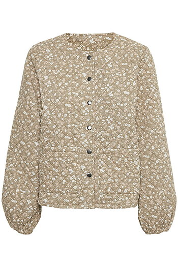 Kaffe - Talia Niola Quilted Jacket Multi Green Flower