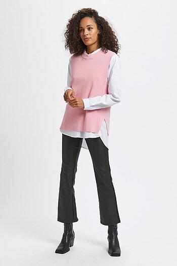 Kaffe - Miara Knit Vest Candy Pink Melange