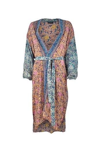Black Colour - Luna Long Kimono Pastel Mix