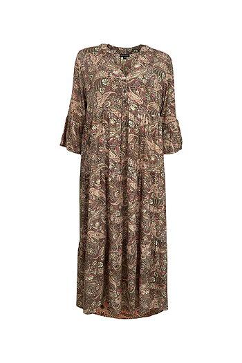Black Colour - Luna Boho Long Dress Cashmere Blush