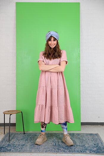 Black Colour - Siena Linnen Maxi Dress Rose
