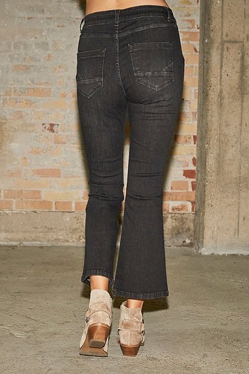 Isay - Como Flare Pant Jeans Washed Black