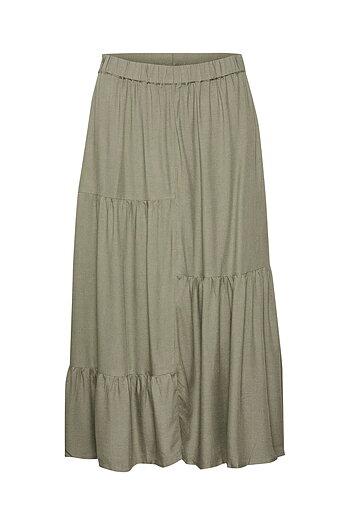 Culture - Alida Skirt Tarmac Melange