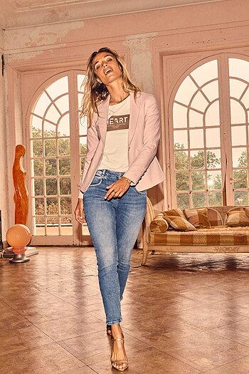 Mos Mosh - Naomi Gloss Jeans  Blue Cropped