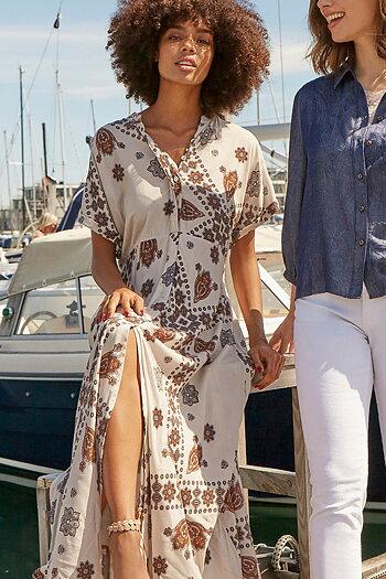 Isay - Gyta Dress Summer Brownie