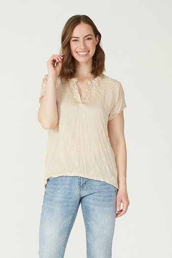 Isay - Liva s/s Blouse Sand