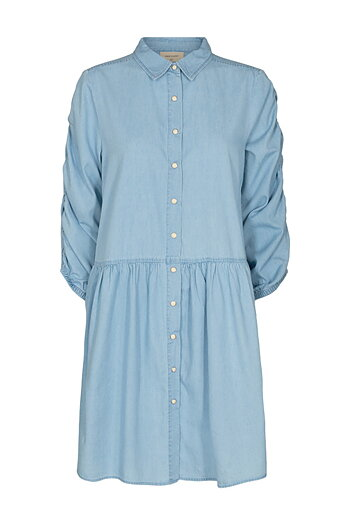 Freequent - Dobby Dress Light Blue Denim