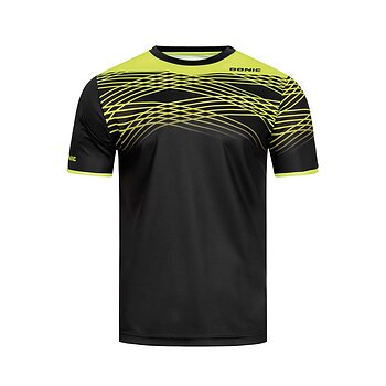 Donic T-shirt Clix, black/yellow